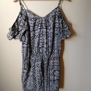 New Arizona Black and White Medium Romper